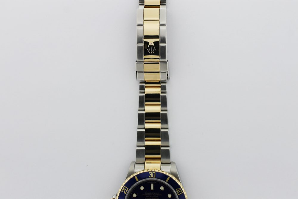 Rolex Two Tone Submariner 16613T with Box & Paper