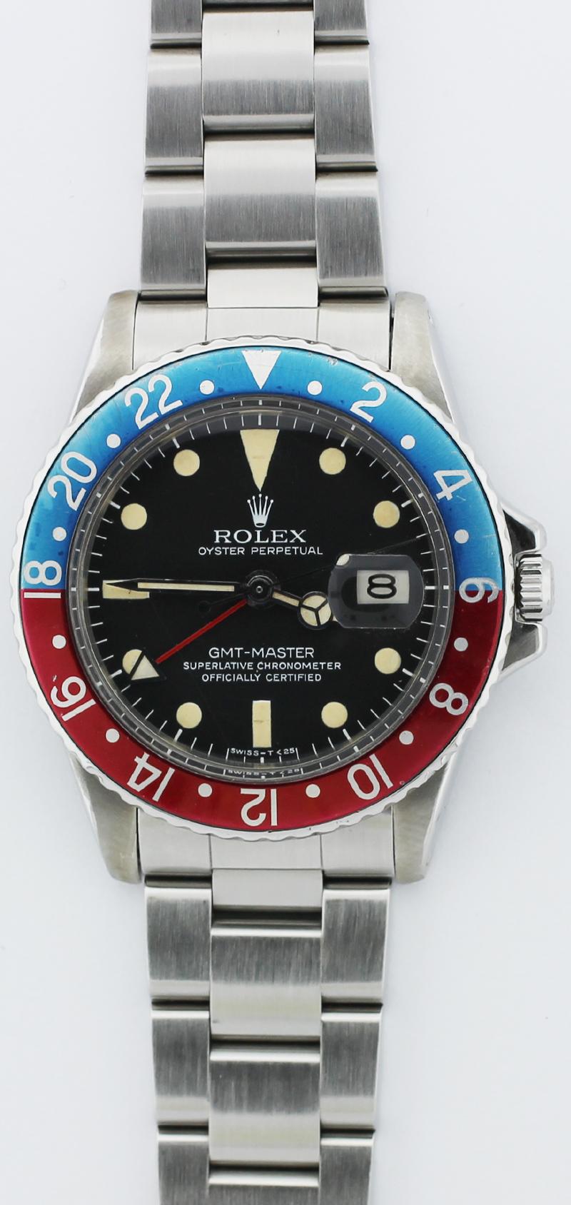 Vintage Rolex Steel GMT-Master 1675 1.8M Serial