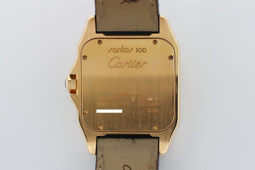 Cartier 18k Rose Gold Santos 100 W20127Y1
