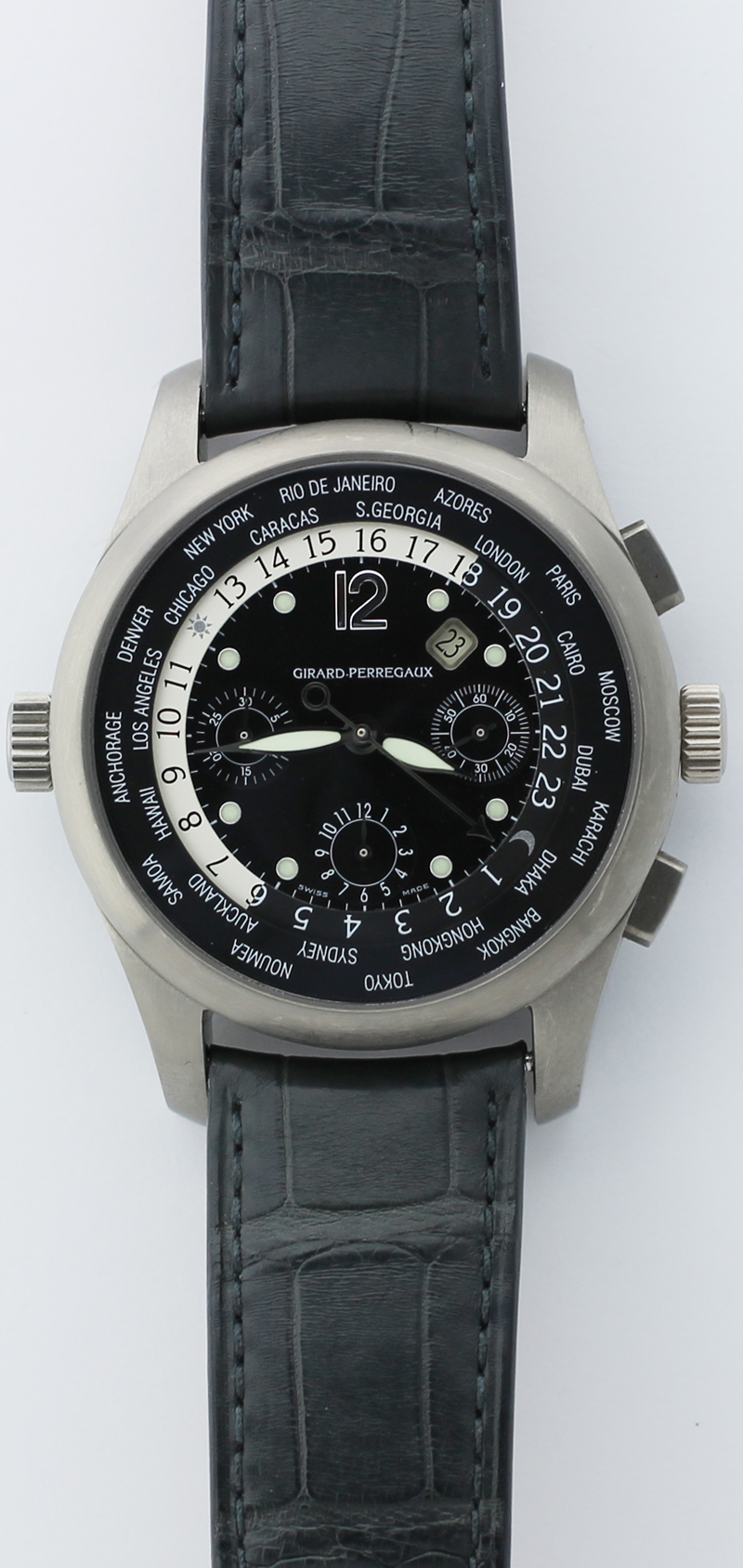 Girard-Perregaux World Time Titanium Chronograph 4980