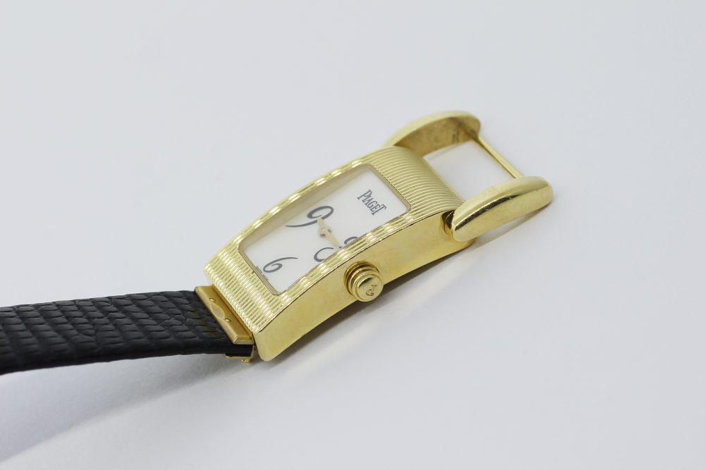 Piaget Miss Protocol 18k Yellow Gold Mother of Pearl 5221 Satin Strap Ladies Watch