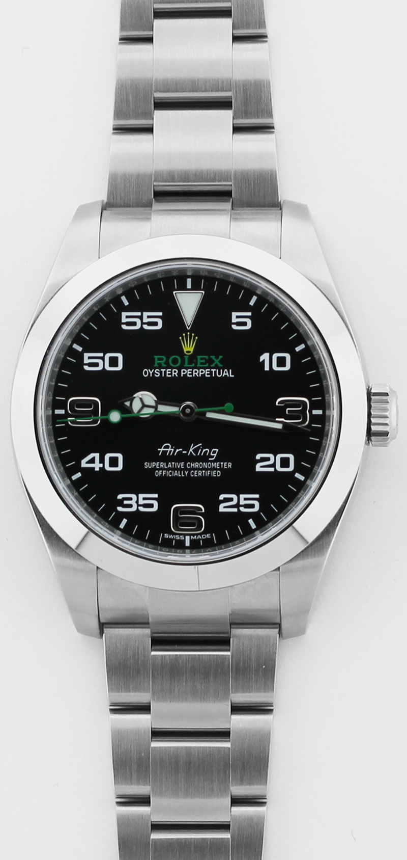 Rolex Steel Air-King 116900 with Warranty Card Box & Booklets
