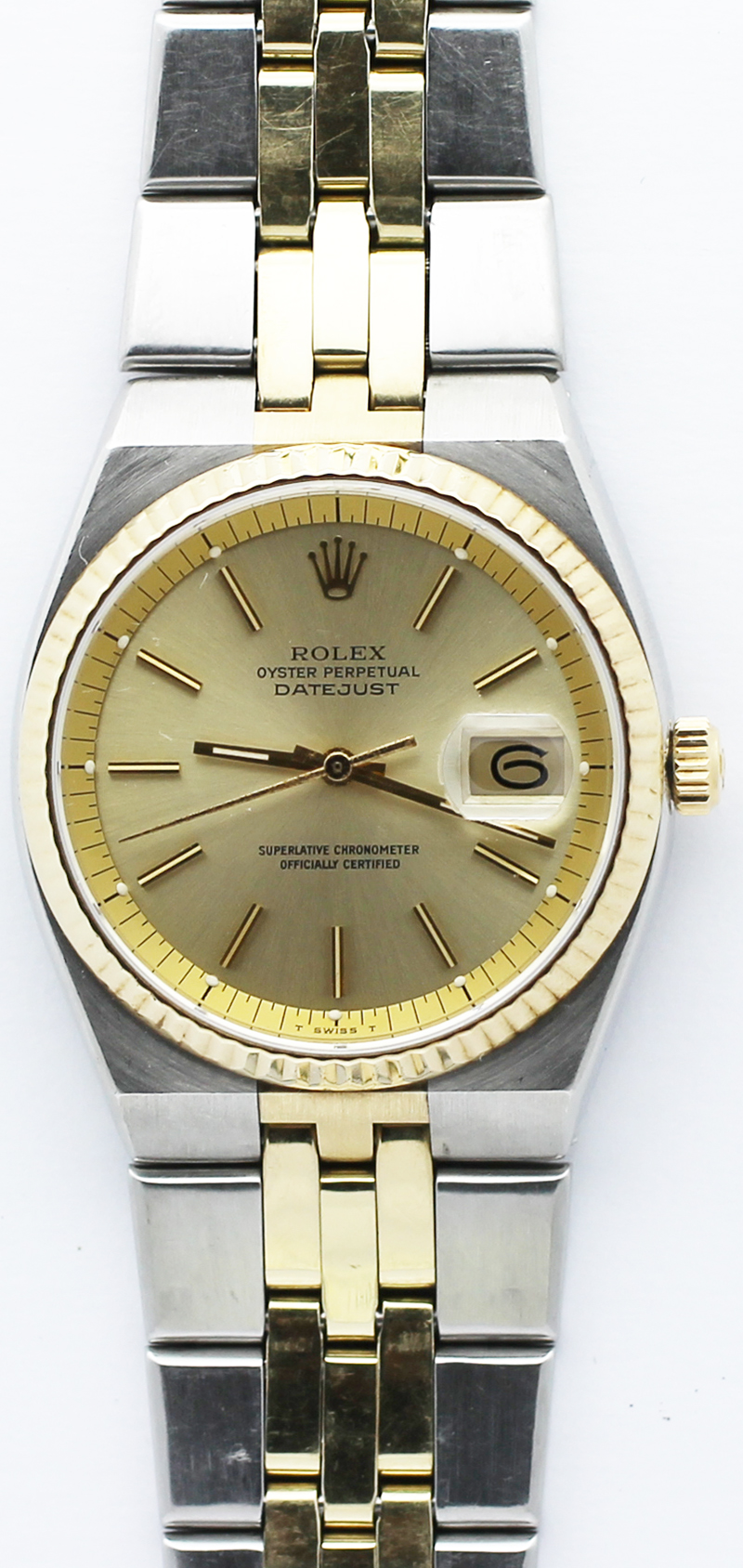 Rolex Steel & 18k Yellow Gold Oyster Quartz Style 1630 with Box & Booklets