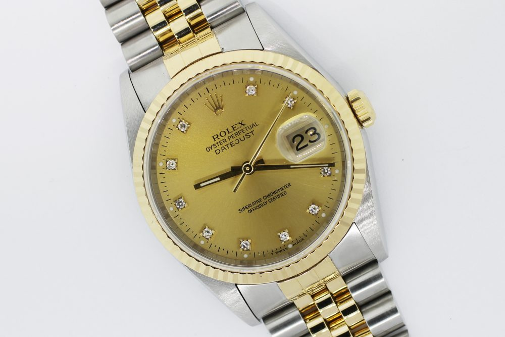 Rolex Steel & 18k Yellow Gold Datejust 16233 with Box & Paper