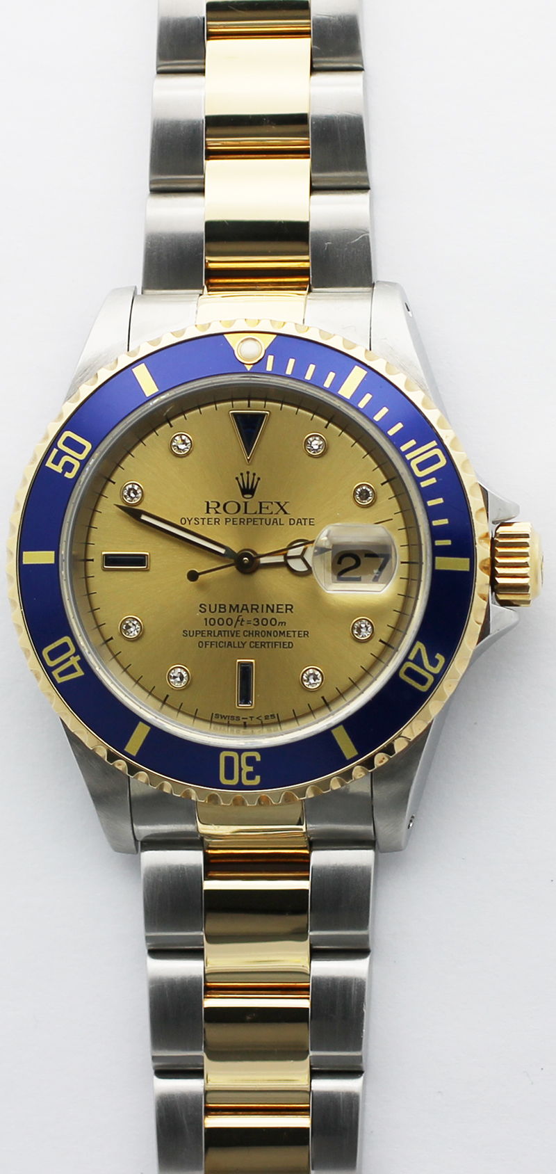 Rolex Two Tone Submariner 16613 with Box & Paper