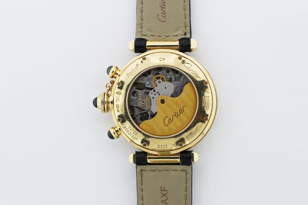 Cartier 18k Yellow Gold Pasha Chronograph Model 2111