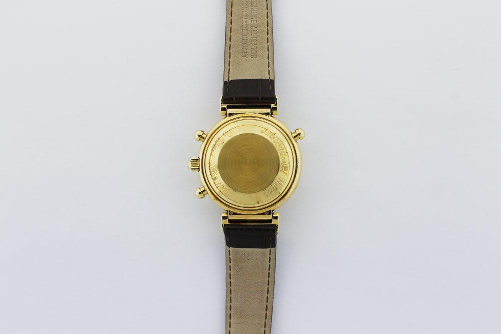 IWC 18k Yellow Gold First Generation Perpetual Calendar Split Second Chronograph Moonphase Da Vinci 3751