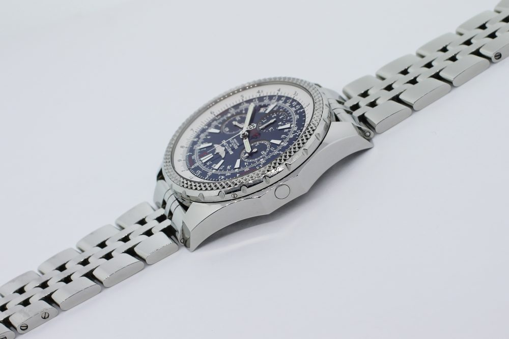 Breitling Steel Bentley Motors Special Edition Chronograph Blue Dial A25362 Box & Booklets