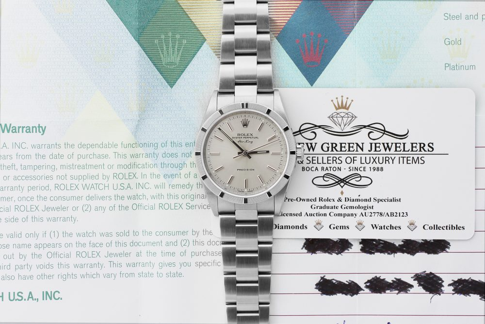 Rolex Steel Air-King 14010M with Box & Booklets