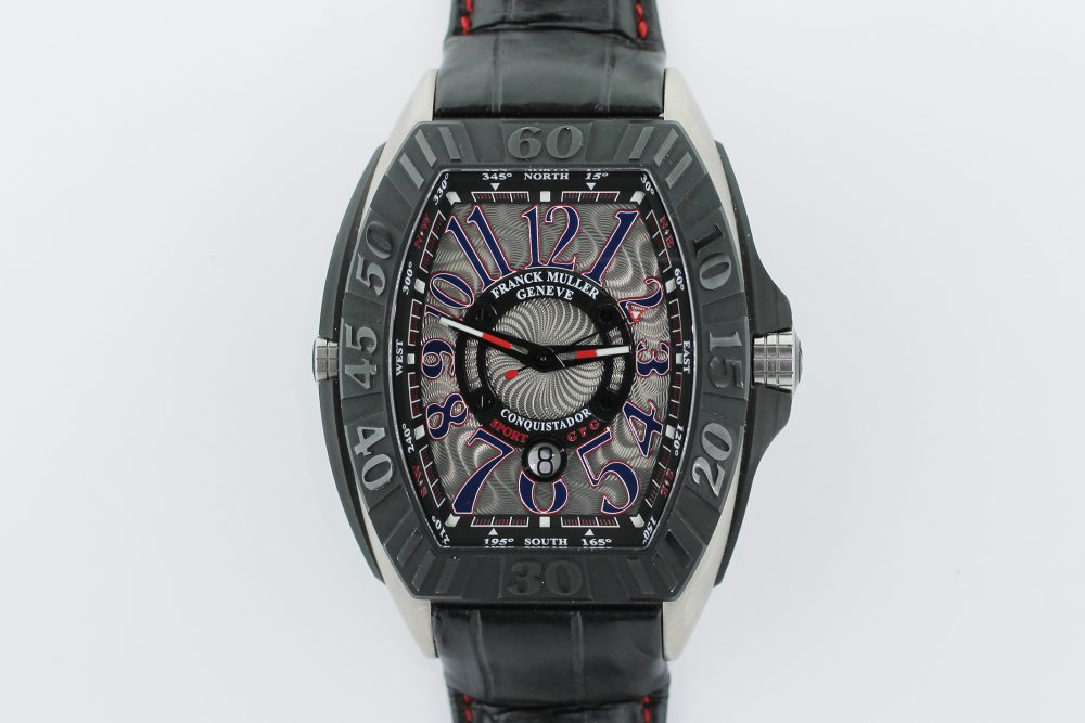Frank Muller Titaniun Grand Prix Conquistador Chronograph USA Edition GPG  9900 SC #88 of 100 on Strap with Box & Booklets