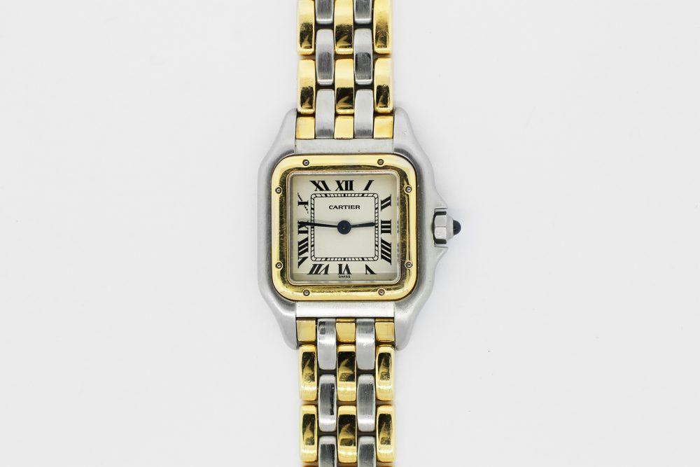 Cartier Cartier 18k Yellow Gold & Steel Ladies Small 3-Row Panthere De Cartier Quartz