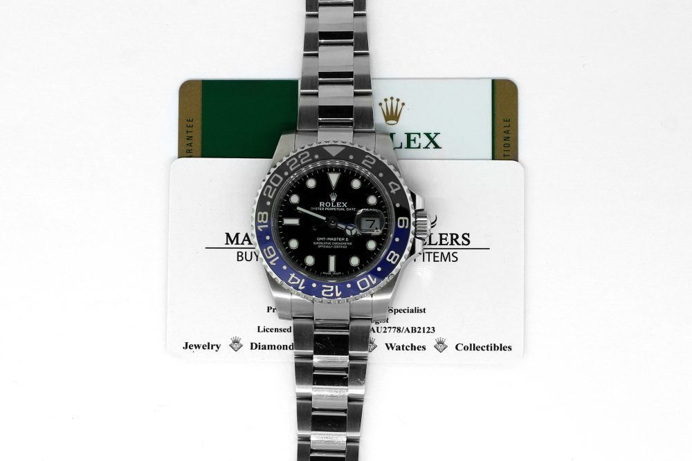 "Rolex Steel Ceramic GMT-Master II 116710 BLNR ""Batman"" with Box & Card"