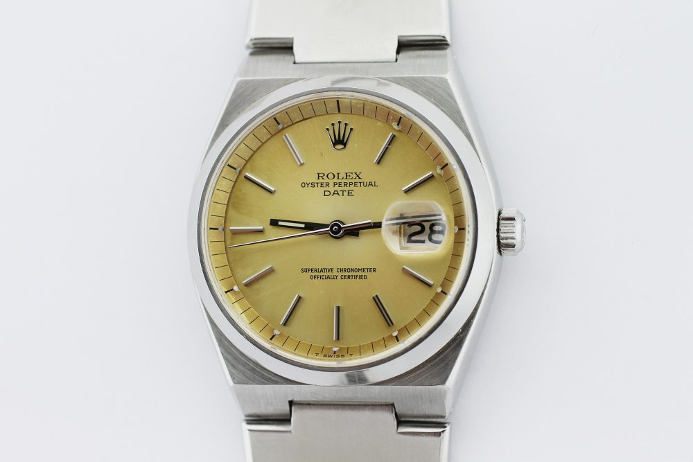Rolex Steel Date Automatic Oyster Quartz Case Tropical Dial 1530 with Box & Booklets