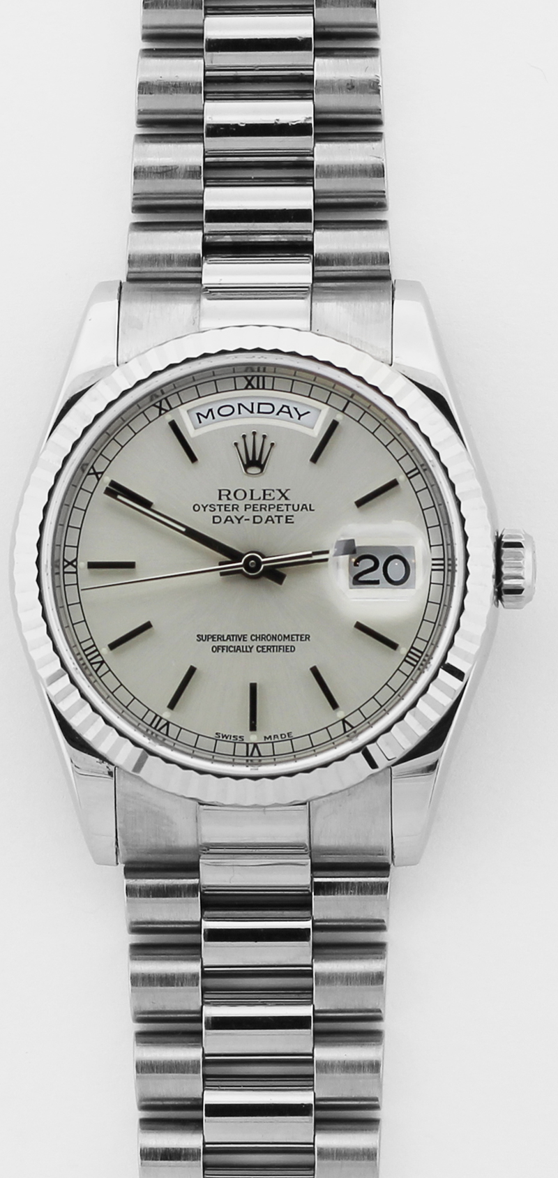 Rolex 18k White Gold Day-Date 118239 with Box & Booklets