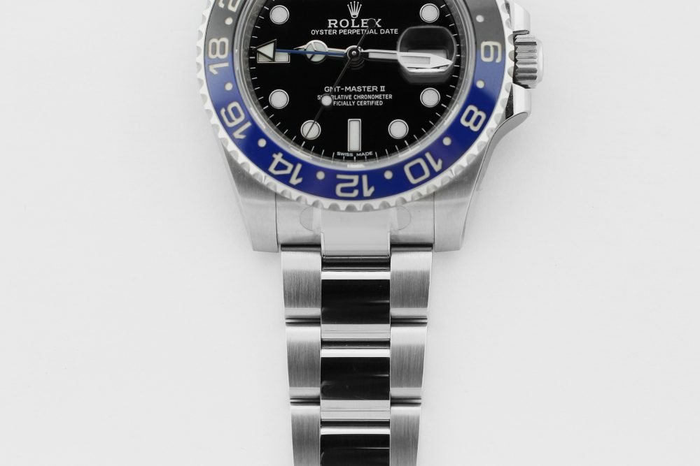"Rolex Steel Ceramic GMT-Master II 116710BLNR ""Batman"" Unworn with Factory Stickers & Box & Booklets"