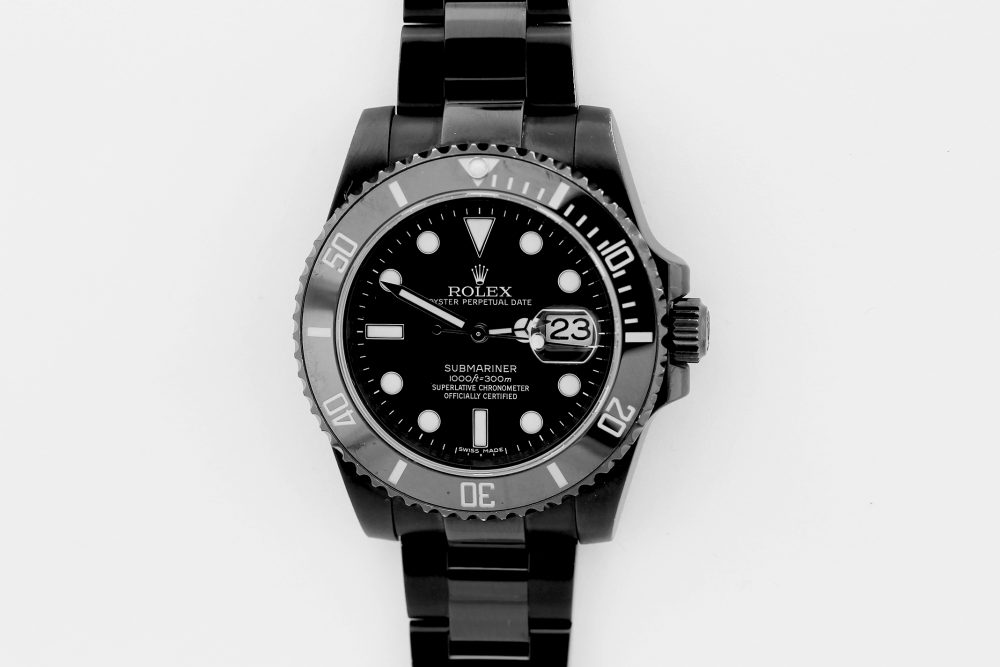 Rolex Steel Ceramic Custom Black PVD Submariner Date 116610 with Box & Booklets