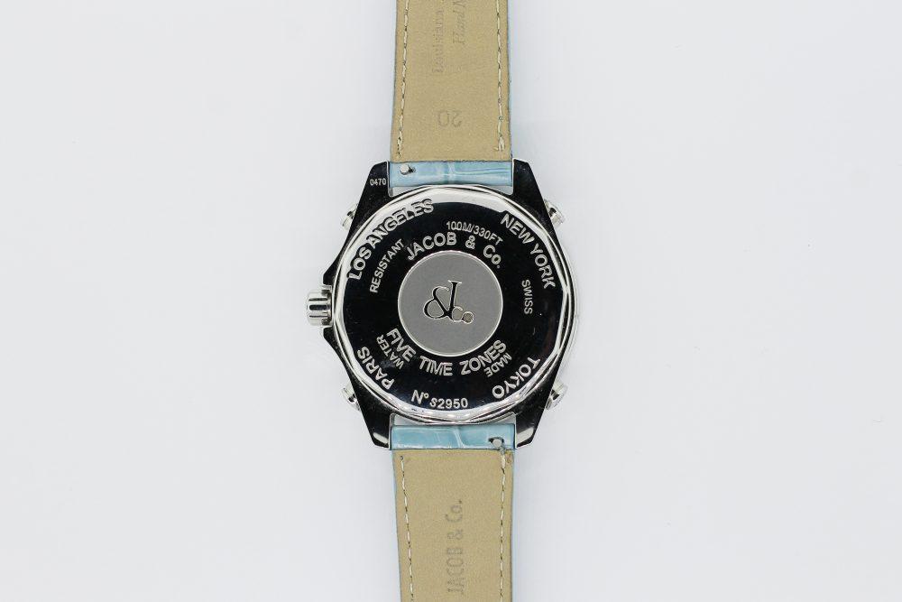 Jacob & Co. Steel Diamond Dial World Timer with Factory Diamond Bezel S2950