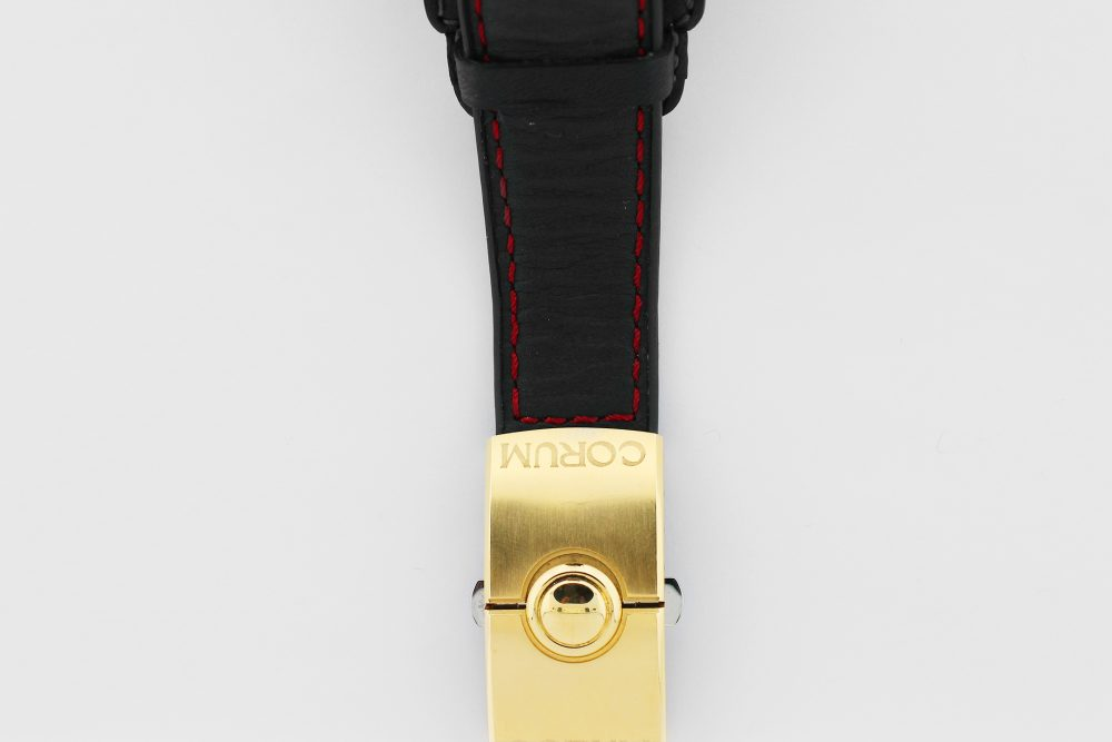 "Corum 18k Rose Gold ""Night Flyer"" 082.151.65 Factory Diamond Bezel Double Deployant Clasp Box & Papers"
