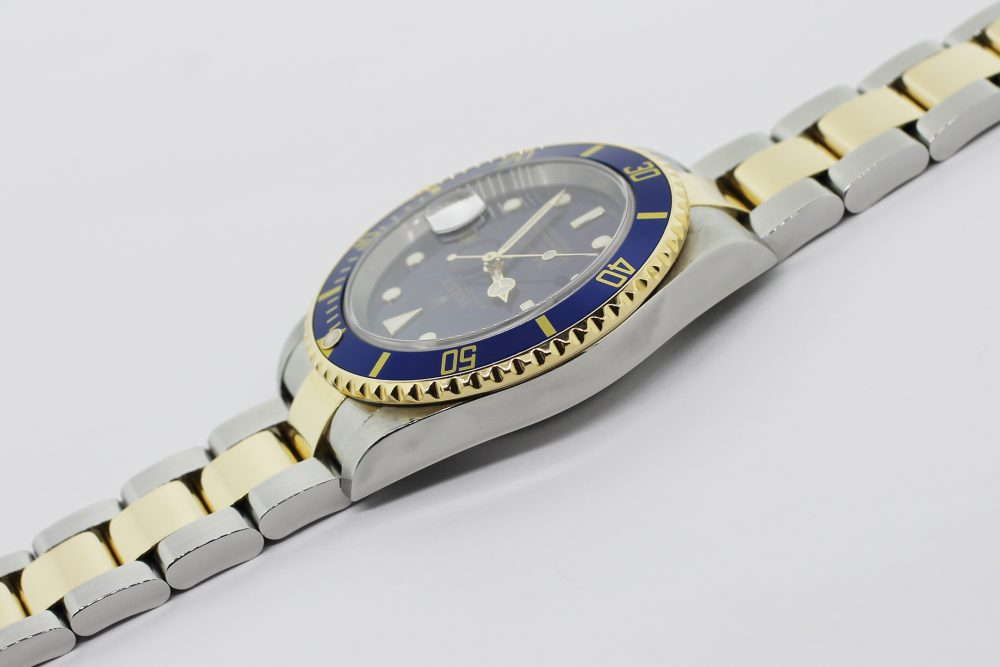 Rolex Two Tone Submariner 16613 with Box & Card