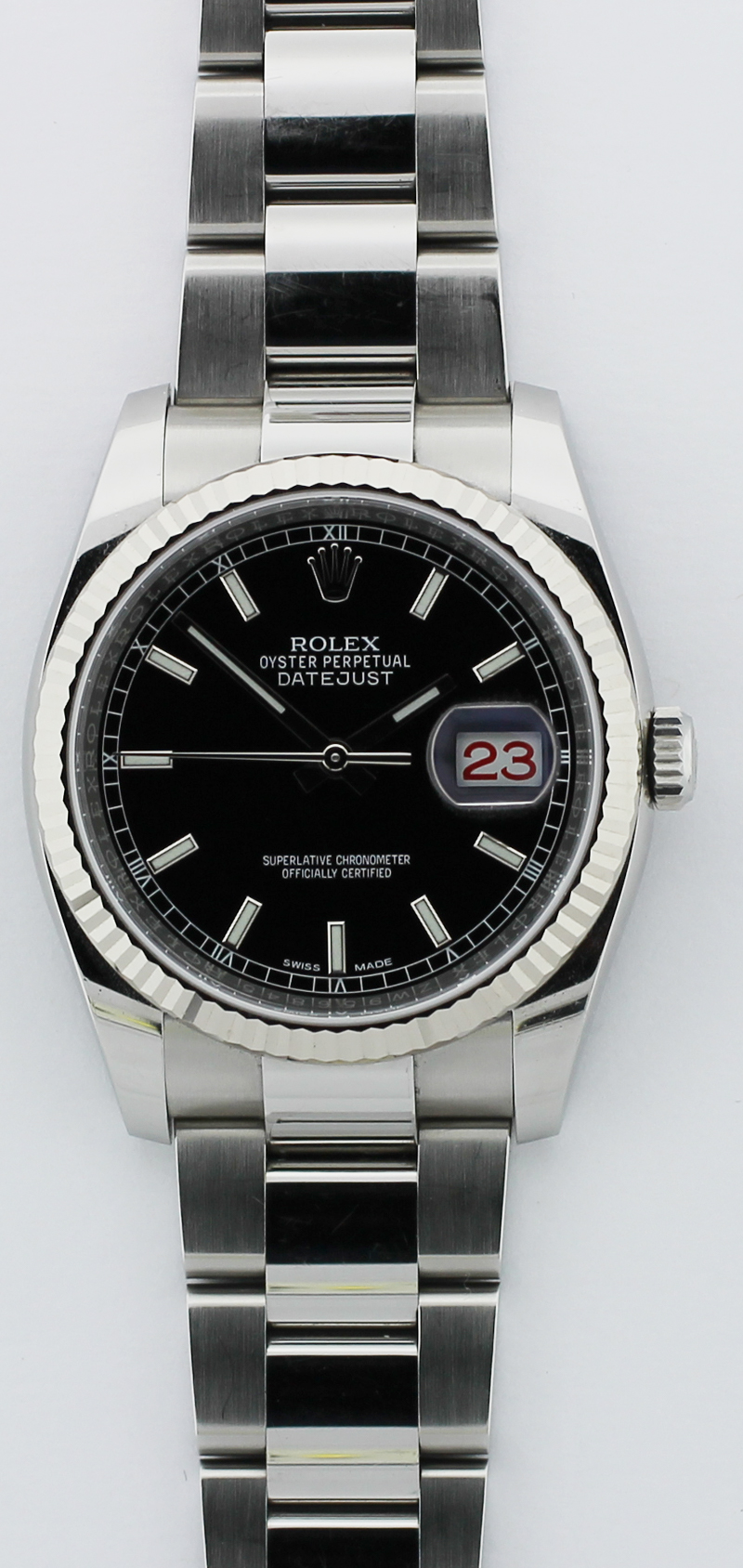 Rolex Steel Datejust Black Dial 116234 with Box & Card