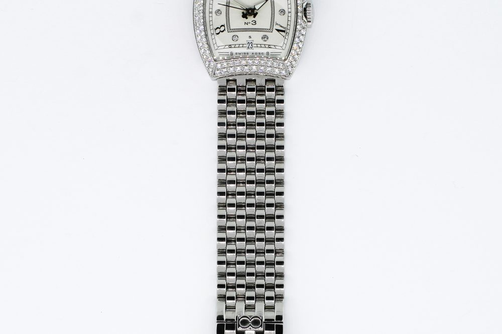 Bedat Steel Diamond Bezel Diamond Dial Bracelet No 314