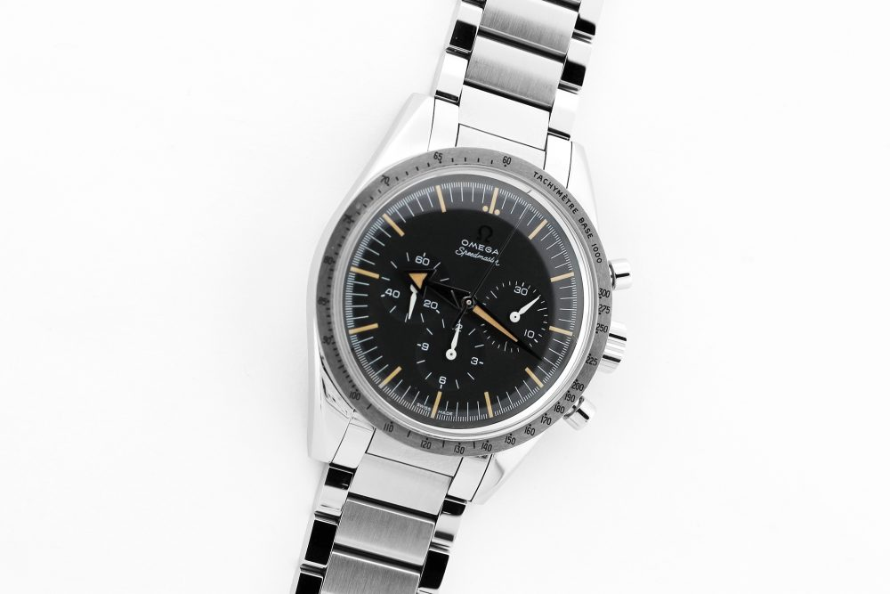 Omega 1957 60th Limited Anniversary Speedmaster Professional Chronograph with Bracelet, Strap, Box & Booklets