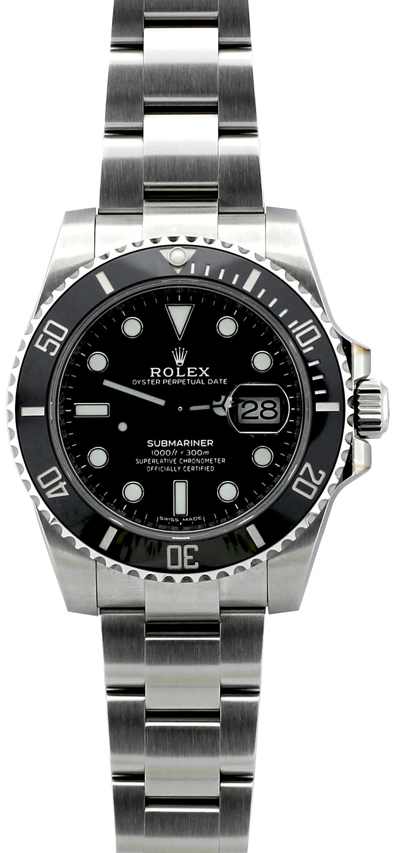 Unworn Rolex Steel Ceramic Submariner Date 116610 with Box & Card