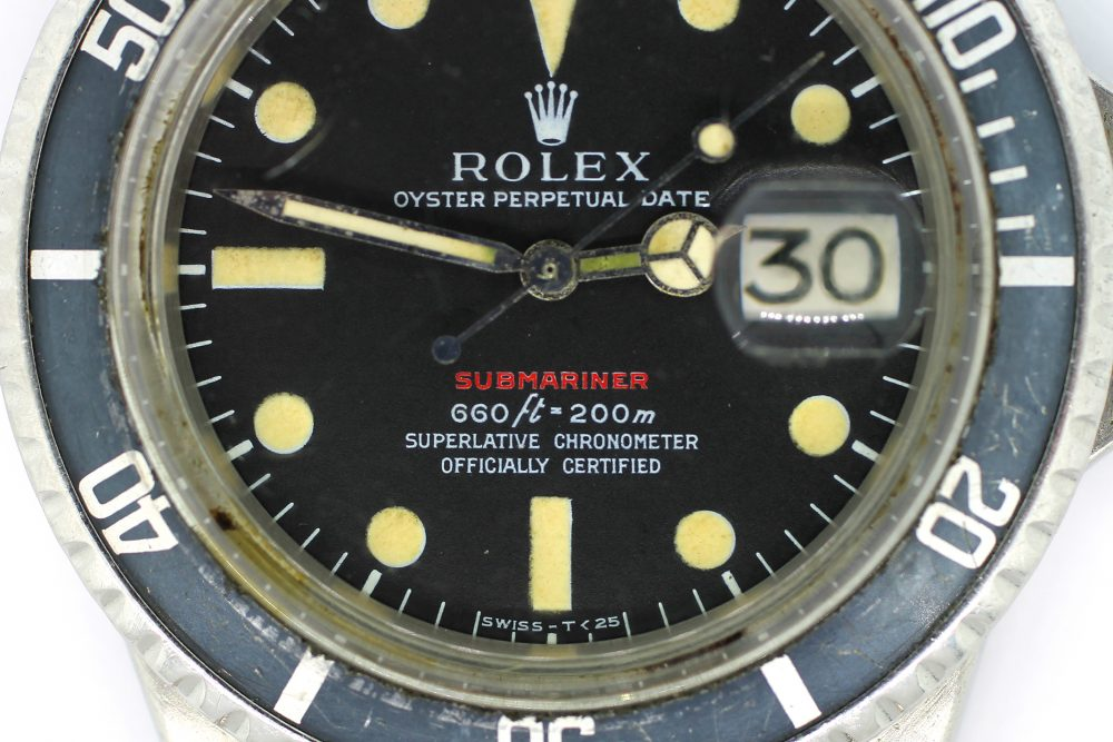Vintage Rolex Steel Red Submariner 1680