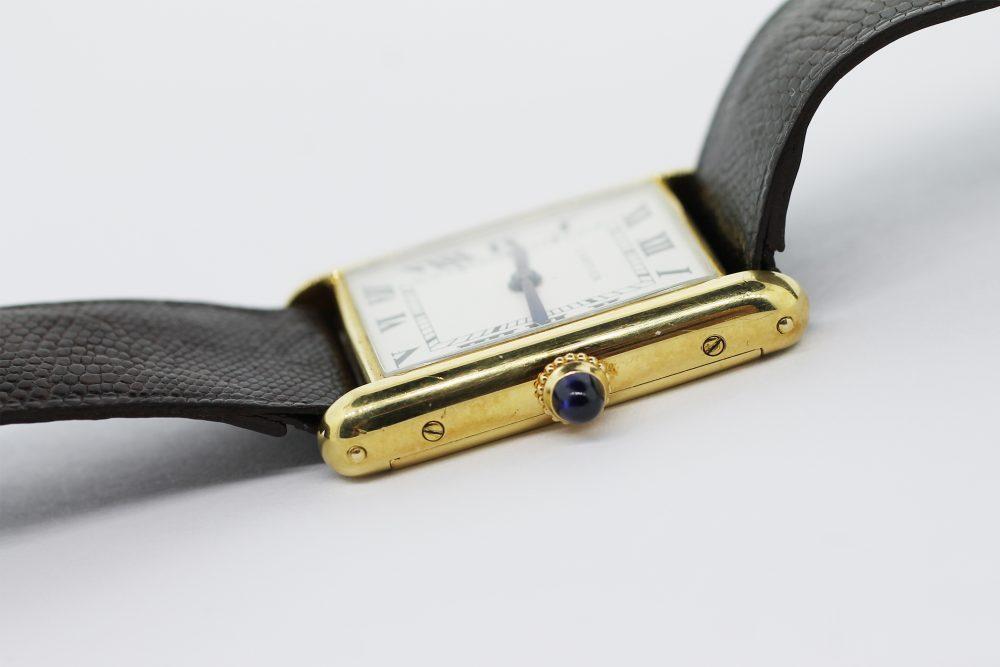 Vintage Cartier 18k Yellow Gold Manual Wind Audemars Piguet Caliber Tank