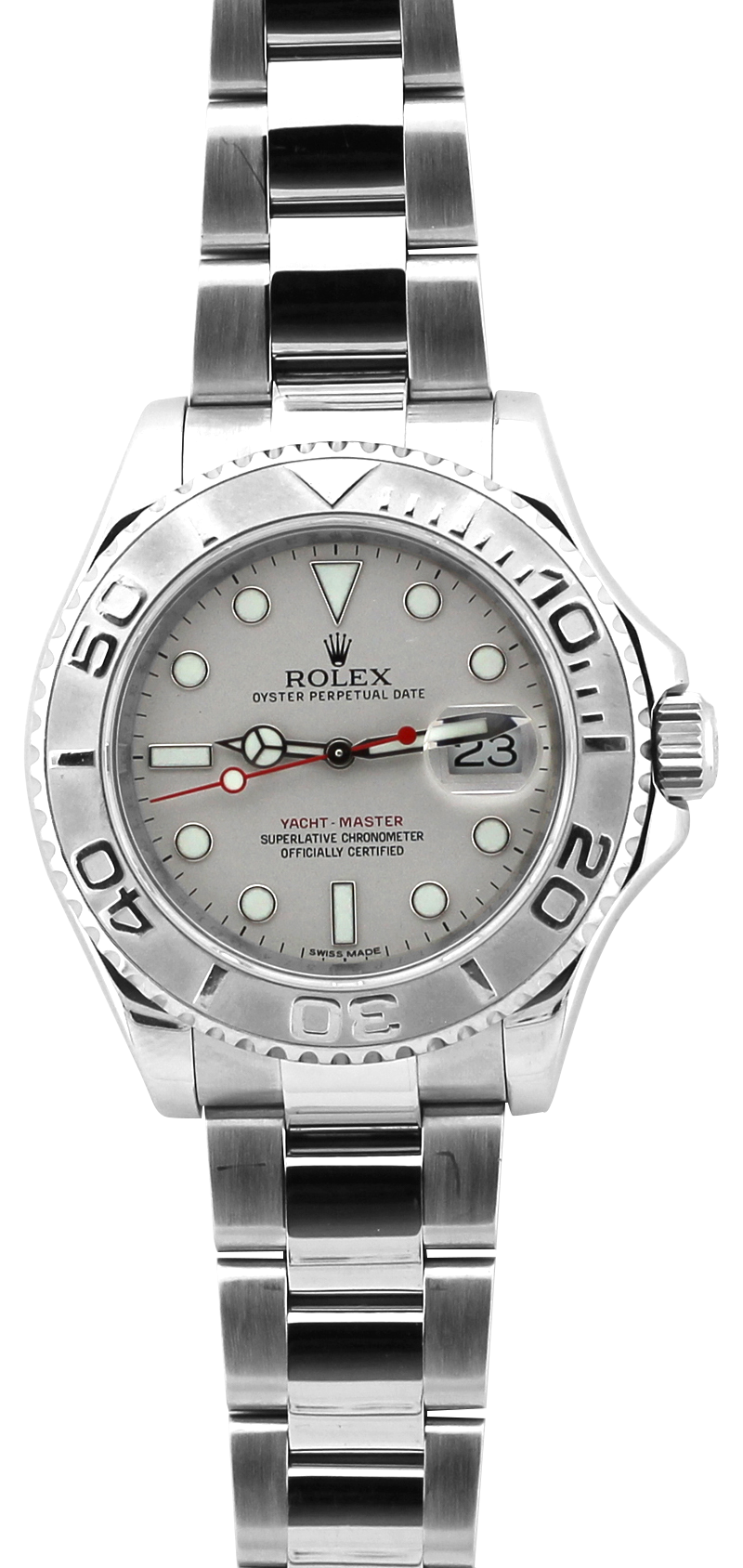 Rolex Steel & Platinum Yacht-Master 116622 Inner Bezel Engraved with Box & Booklets