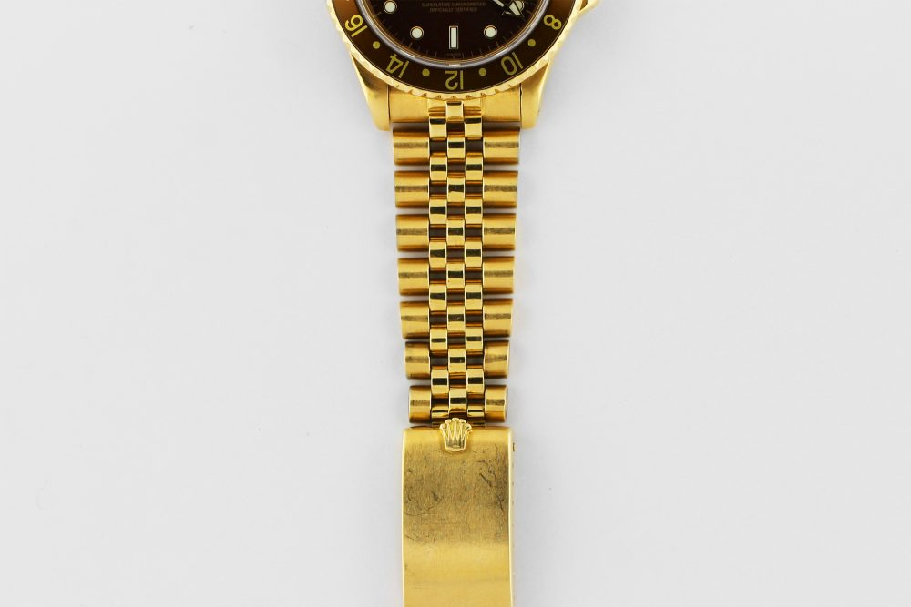 Rolex 18k Yellow Gold GMT-Master 16758 on Jubliee Bracelet