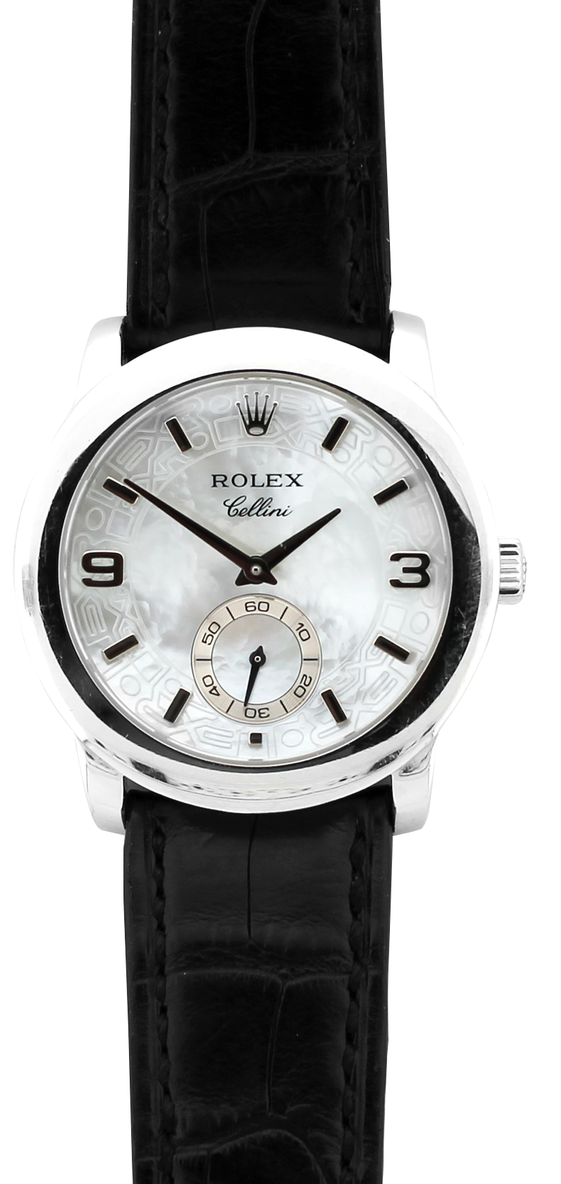 Rolex Platinum Cellini Cellinium White Mother Of Pearl Dial 5240 with Box & Booklets