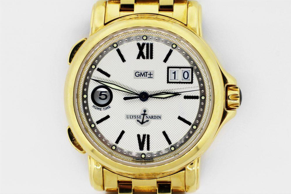 Ulysse Nardin 18k Yellow Gold GMT Big Date 221-88-8 on Bracelet
