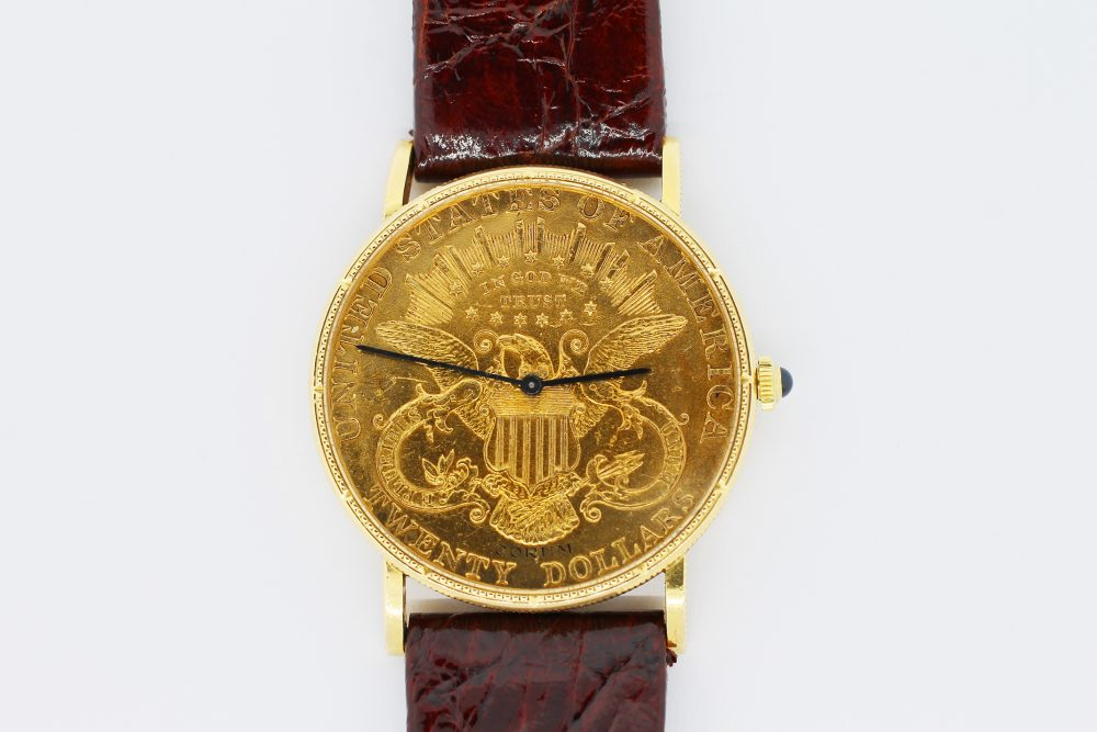 Corum 18k Yellow Gold Manual Wind 1899 Coin
