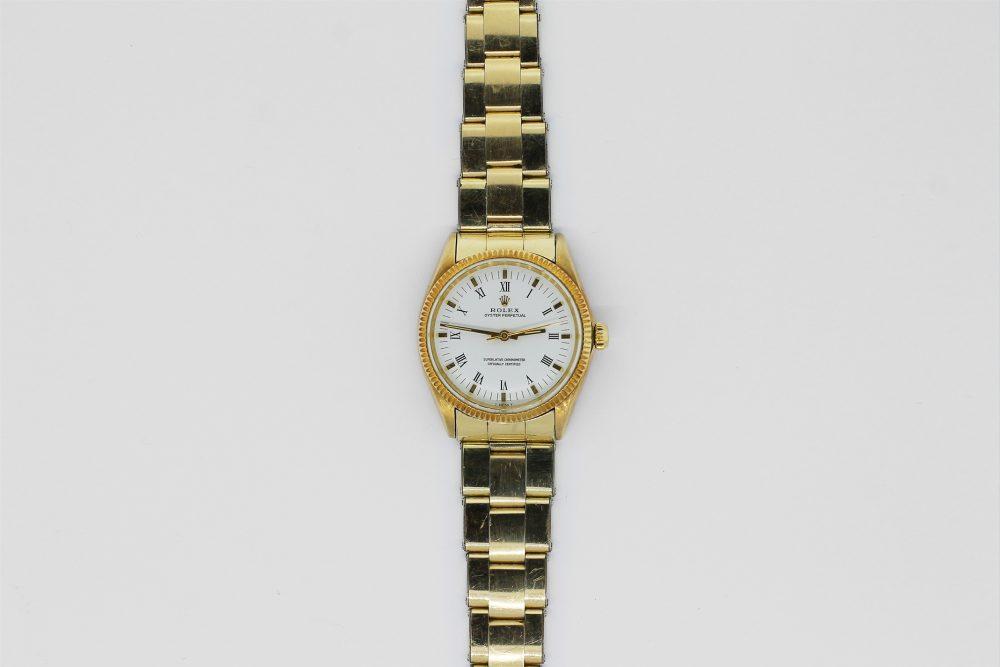 Vintage Rolex 14k Yellow Gold Oyster Perpetual 1002 on Rivet Bracelet