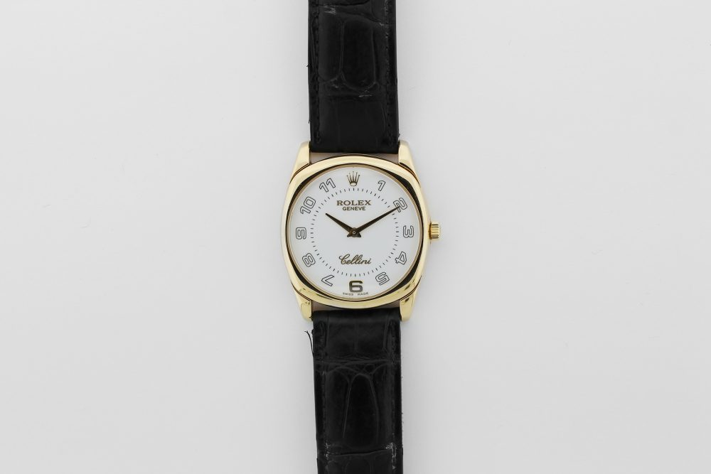 Rolex 18k Yellow Gold Cellini 4233 on Strap Complete with Box & Paper