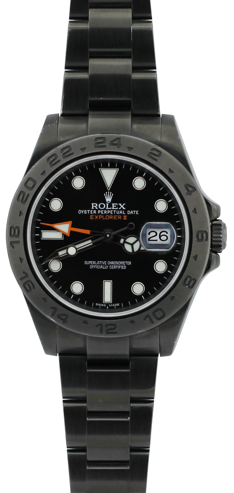 Rolex Black PVD Steel Explorer II 216570 with Box & Booklets