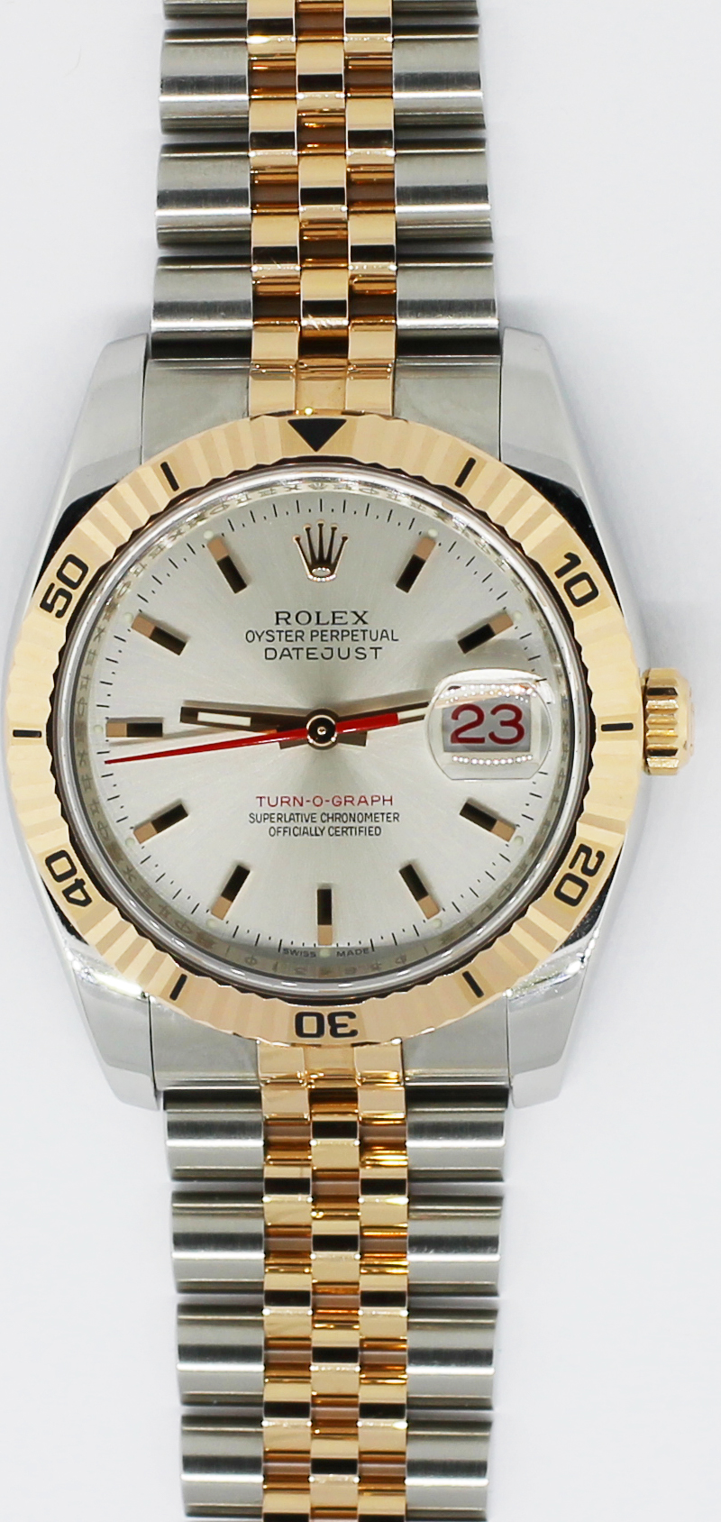 Rolex Two-Tone  Datejust Silver Dial Rose Gold Stick Hour Markers 116261 with Box & Booklets