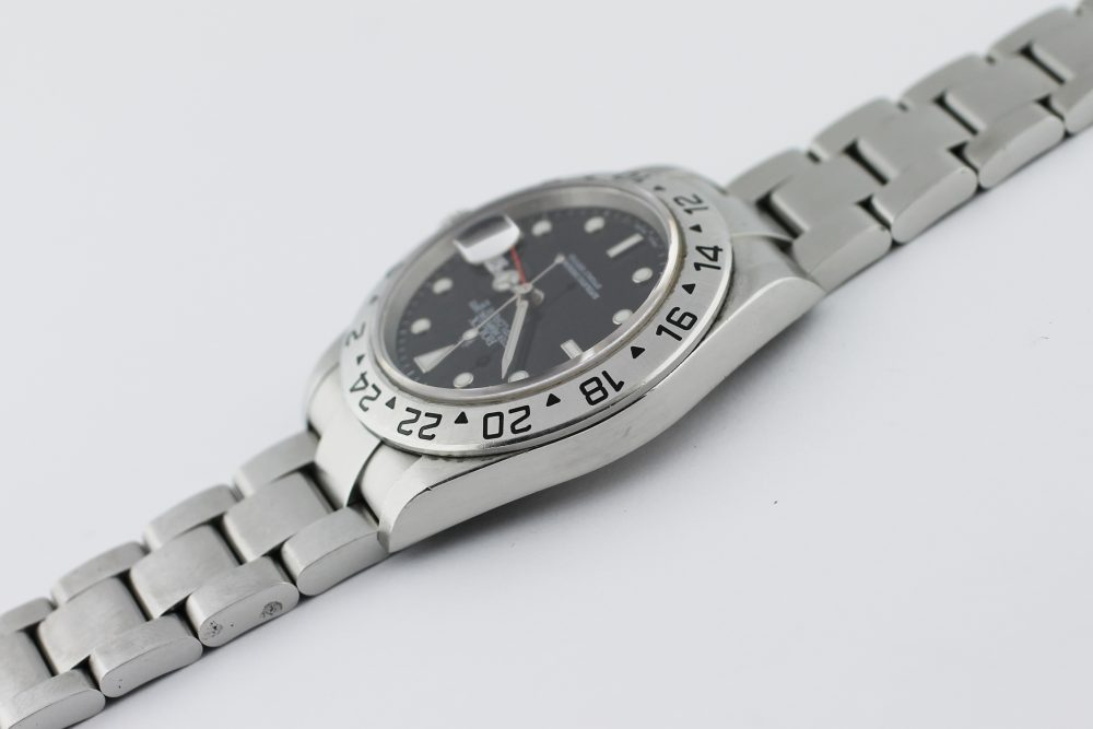 Rolex Steel Explorer II 16570 Black Dial with Box & Card