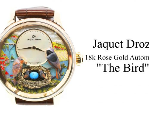"Introducing the Jaquet Droz 18k Rose Gold Automata ""The Bird"" Minute Repeater Limited to 8 Pieces"