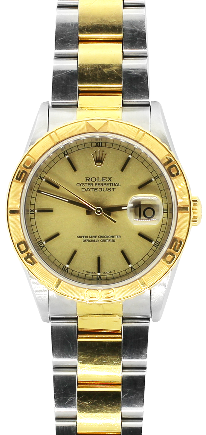 Rolex Two-Tone Datejust Thunderbird Champagne Dial 16263 with Box & Booklets
