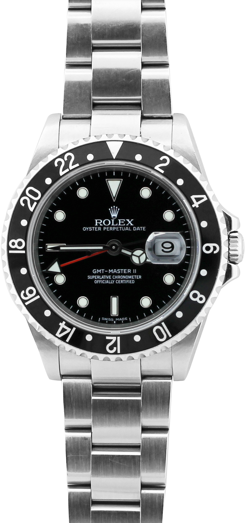 """Rolex Steel GMT-Master II ERROR """"11"""" Dial 16710 with Box & Booklets"""