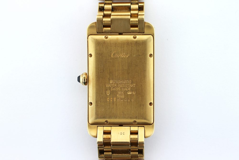 Cartier 18k Yellow Gold Tank Americaine Automatic on Bracelet
