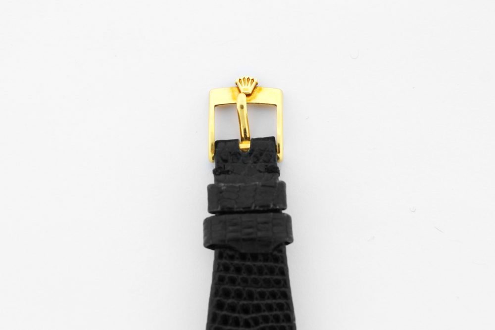 "Vintage Rolex Yellow Gold ""King Midas"" Cellini 4126 on Black Leather Strap"