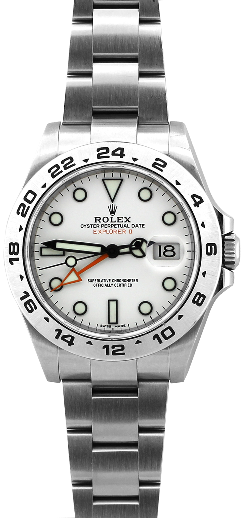 Rolex Steel Explorer II 216570 White Dial with Box & Booklets