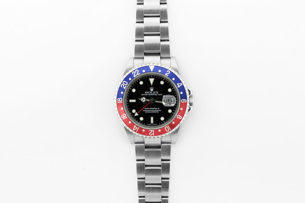 """Rolex Steel GMT-Master II """"Pepsi"""" 16710 with Box & Booklets"""