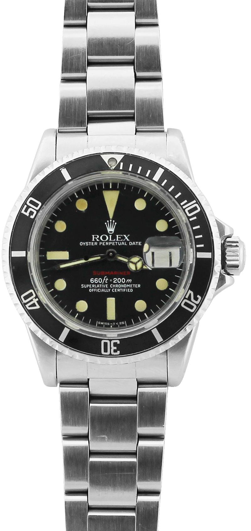 Vintage Rolex Steel Red Submariner 1680