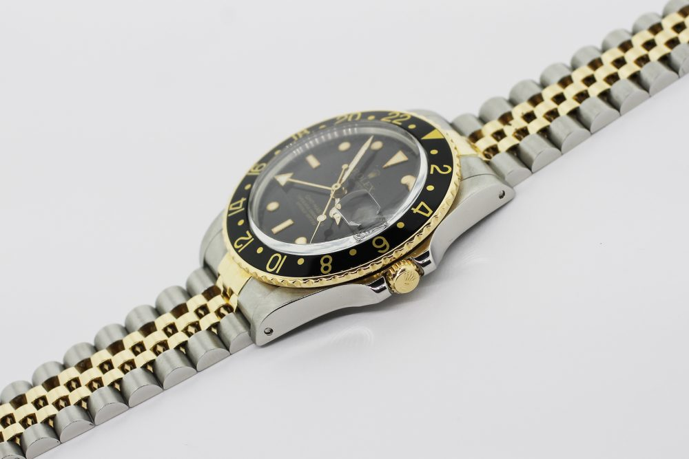 Rolex 18k Yellow Gold & Steel GMT-Master 16753 with Box & Booklets