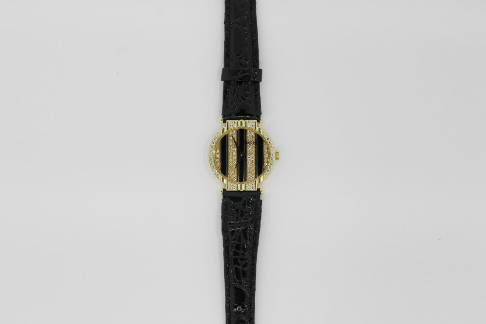 Piaget 18k Yellow Gold Polo Quartz Factory Diamond Dial & Bezel