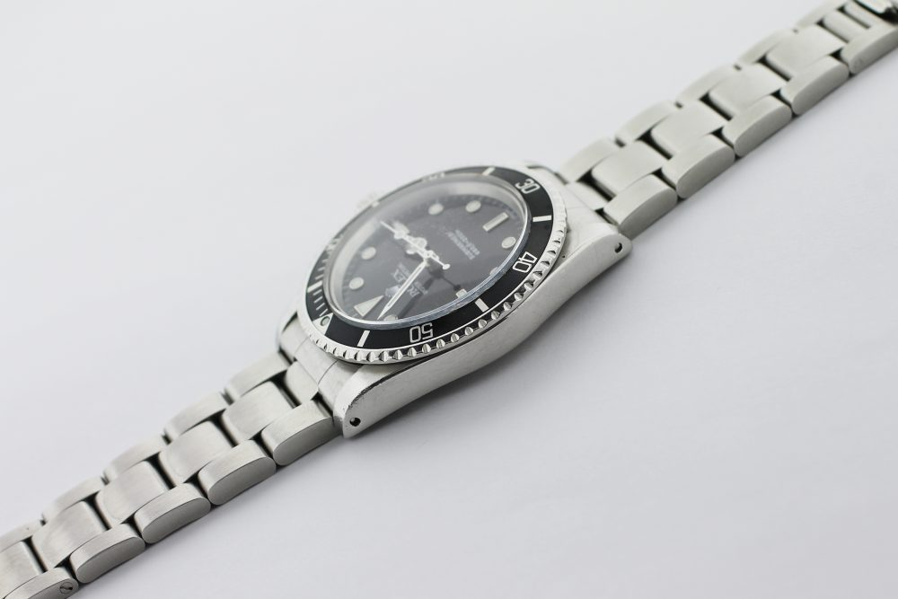 Vintage Rolex Steel Gloss Dial White Gold Surrounds Submariner 5513